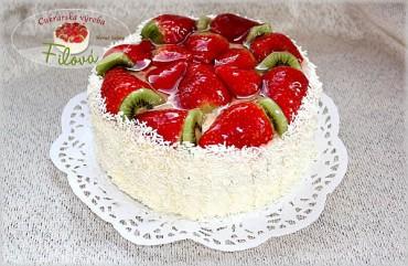 Jahodová ovocná torta